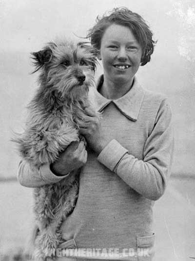 Ethel Langton and her dog, Badger